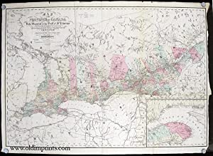 Map of the Province of Canada from Lake Superior to the Gulf of St. Lawrence Corrected from Infor...