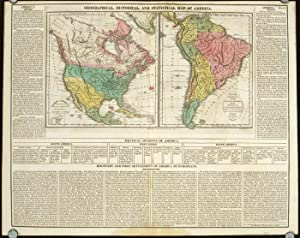 Geographical, Historical, and Statistical Map of America. North America / South America.