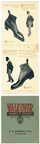 Walk-over. Modes & Moods. 1905 - 06. Mens Shoes. Fall & Winter.