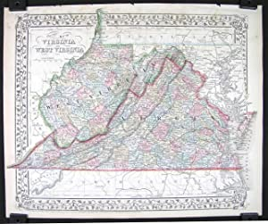 County Map of Virginia and West Virginia. [1869]