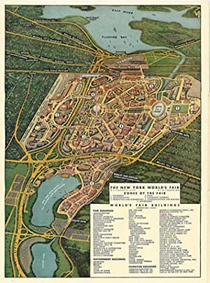 Map of the New York World's Fair with a New Transit Map of Greater New York. Compliments of F.W. ...