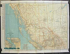 Rand McNally Standard Map of British Columbia. (Cover title: British Columbia Rand McNally Indexe...