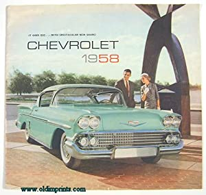 It Goes Big.With Spectacular New Shape! Chevrolet 1958.