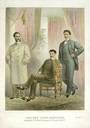 VERY LARGE SIZE MEN'S FASHION: The New: 1870s FASHION) Lithographed