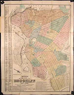 Map of the City of Brooklyn New York. Showing Railroads, Street Numbers &c. &c &c. (Cover title: ...