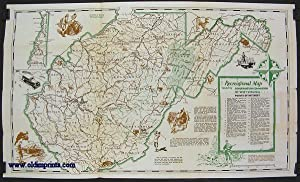 Recreational Guide of West Virginia. (Map title: Recreational Map issued by Conservation Commissi...