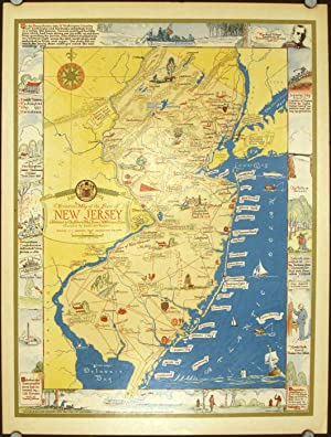 Historical Map of the State of New: NEW JERSEY) des
