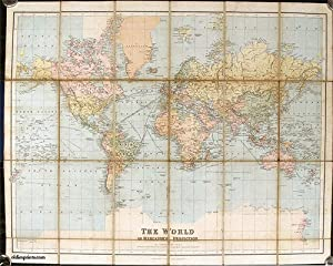 Philips' Series of Travelling Maps. The World on Mercator's Projection.