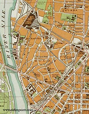 New Map of Cairo and Environs.: EGYPT - CAIRO)