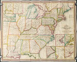 Mitchell's Travellers Guide through the United States. A Map of the Roads, Distances, Steam Boats...