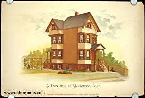 A Dwelling of Moderate Cost.: AMERICAN VICTORIAN ARCHITECTURE