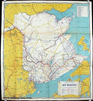 New Brunswick Canadaâ  s Unspoiled Province by the Sea. Official Government Map 1940. Map title: ...