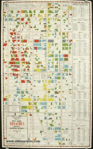 Hagstrom's Map of New York Theatres Hotels Shopping District