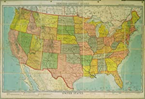 United States. Political With Names. Map S1a. Denoyer-Geppert Series.