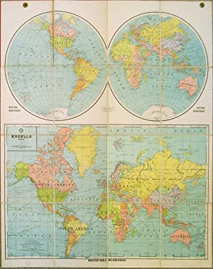 Mercator World and Hemispheres. Excello Series.