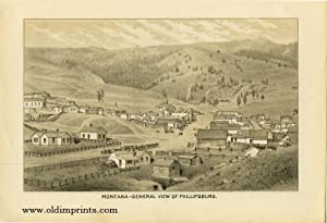 Montana - General View of Phillipsburg.