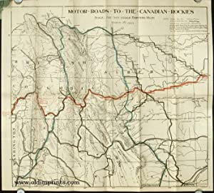 Auto Road Maps of The Scenic Heart of the Canadian Rockies South Eastern British Columbia & Sunny...