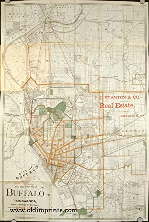 The Matthews Northrup Co's New Map of the City of Buffalo and Vicinity. 1892. Map title: New Map ...