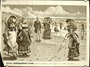Art Supplement to Appletons' Journal. - The Beach at Long Branch.
