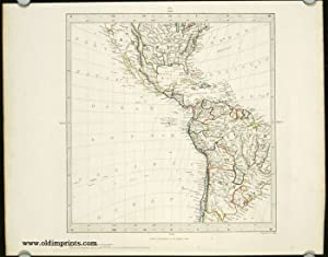 Untitled map showing portions of North, Central and South America, with Texas as a Republic.