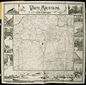 White Mountains Map New Hampshire. Map title: NEW HAMPSHIRE -