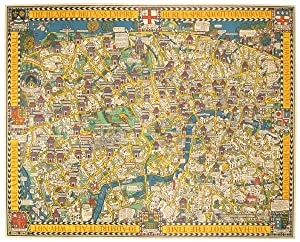 """The Wonderground Map of London Town. """"The: GREAT BRITAIN -"""