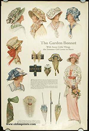 The Garden Bonnet With Some Little Things the Summer Girl Loves to Have.