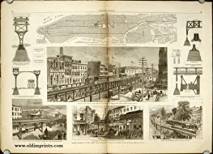 Harper's Weekly. COMPLETE ISSUE, including centrefold Rapid Transit in New York and Front cover i...
