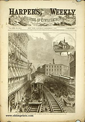 Harper's Weekly. COMPLETE ISSUE, including front cover illustration: The New York Elevated Railro...
