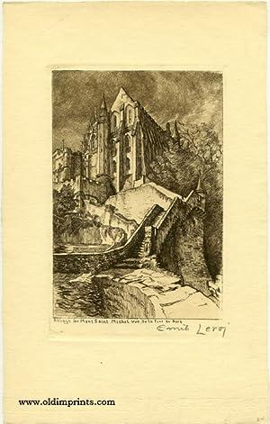 Abbaye du Mont Saint Michel vue de: LEROI - FRANCE