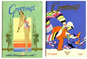Greetings. 1929 - 1932. SEVEN ISSUES.