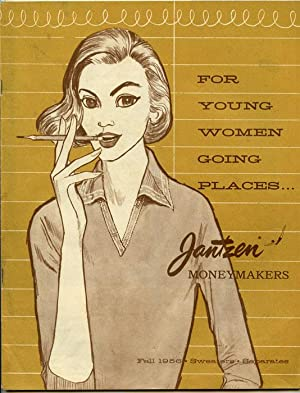 For Young Women Going Places.Jantzen Moneymakers. Fall 1956 Sweaters Separates.