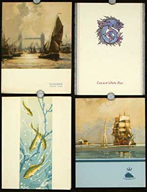 Cunard White Star Four Menus for May 1950.