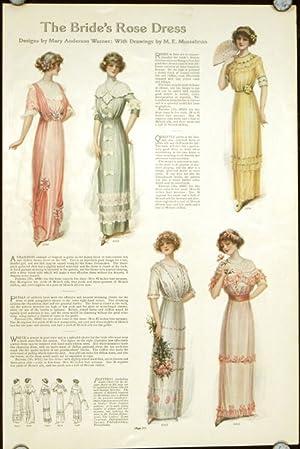 The Bride's Rose Dress.: 1910s FASHION -