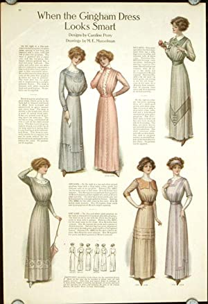 When the Gingham Dress Looks Smart.: 1910s FASHION) Musselman,