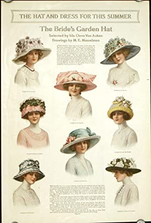The Hat and Dress for This Summer. The Bride's Garden Hat.