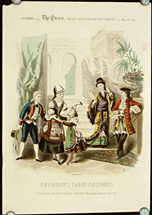 Children's Fancy Costumes. Supplement - The Queen,: 1870s FASHION -