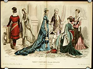 Fancy Costumes - Periods 1000 to 1750.: 1870s FASHION -