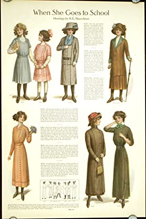 When She Goes to School.: 1910s FASHION) Musselman,