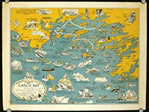 An Historical & Pictorial Map of Casco: MAINE - CASCO