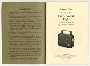Instructions for the Use of the Cinà -Kodak Eight: Models 20 and 25.