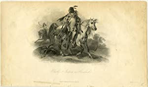 Blackfoot Indian on Horseback.
