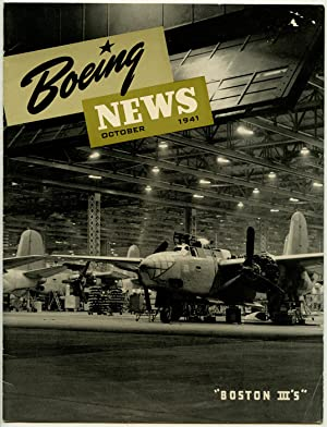 Boeing News. TWO ISSUES. September and October 1941.