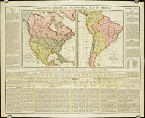 Geographical, Historical, and Statistical Map of America. North America, Drawn from the most rece...
