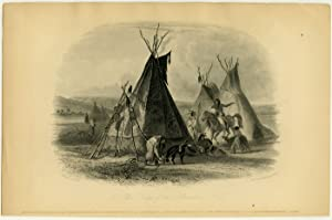 [ A Skin Lodge of an Assiniboine Chief ].