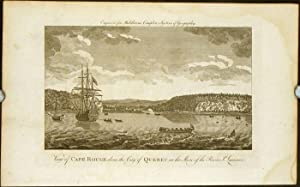 View of Cape Rouge above the City of Quebec on the Shore of the River St. Lawrence.