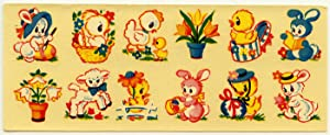 Vintage 1950s Easter Egg Decals.