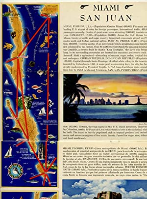 Flight Map. Pan American World Airways Latin American Division. The Caribbean.