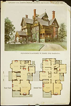 Residence of Henry R. Towne Esq. Stamford: AMERICAN VICTORIAN ARCHITECTURE