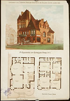 A Residence on Riverside Park, New York.: AMERICAN VICTORIAN ARCHITECTURE)